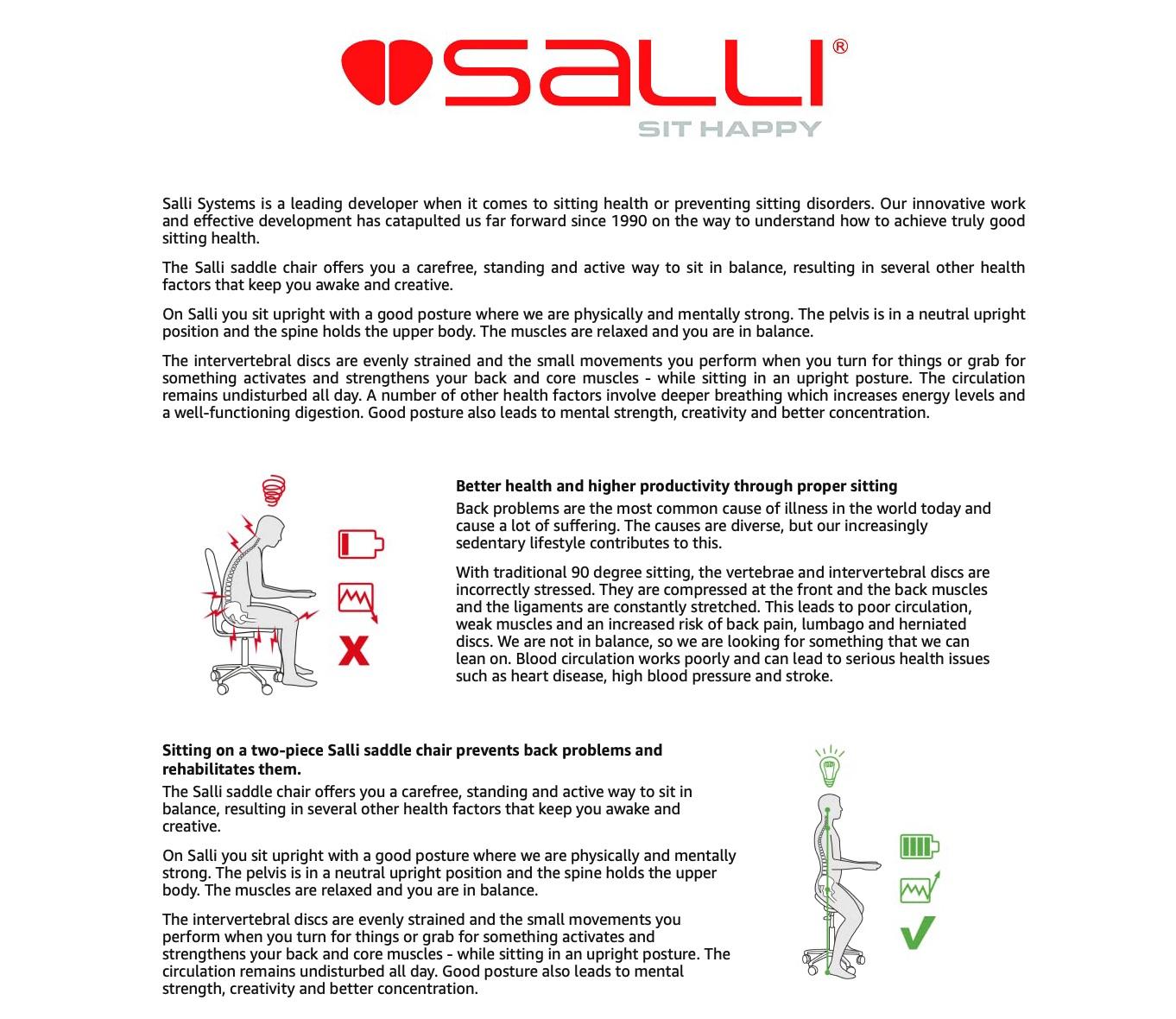 salli sit happy description